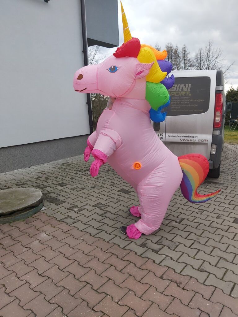 Nadmuchiwany Kostium Unicorna nr 2 - 50 zł